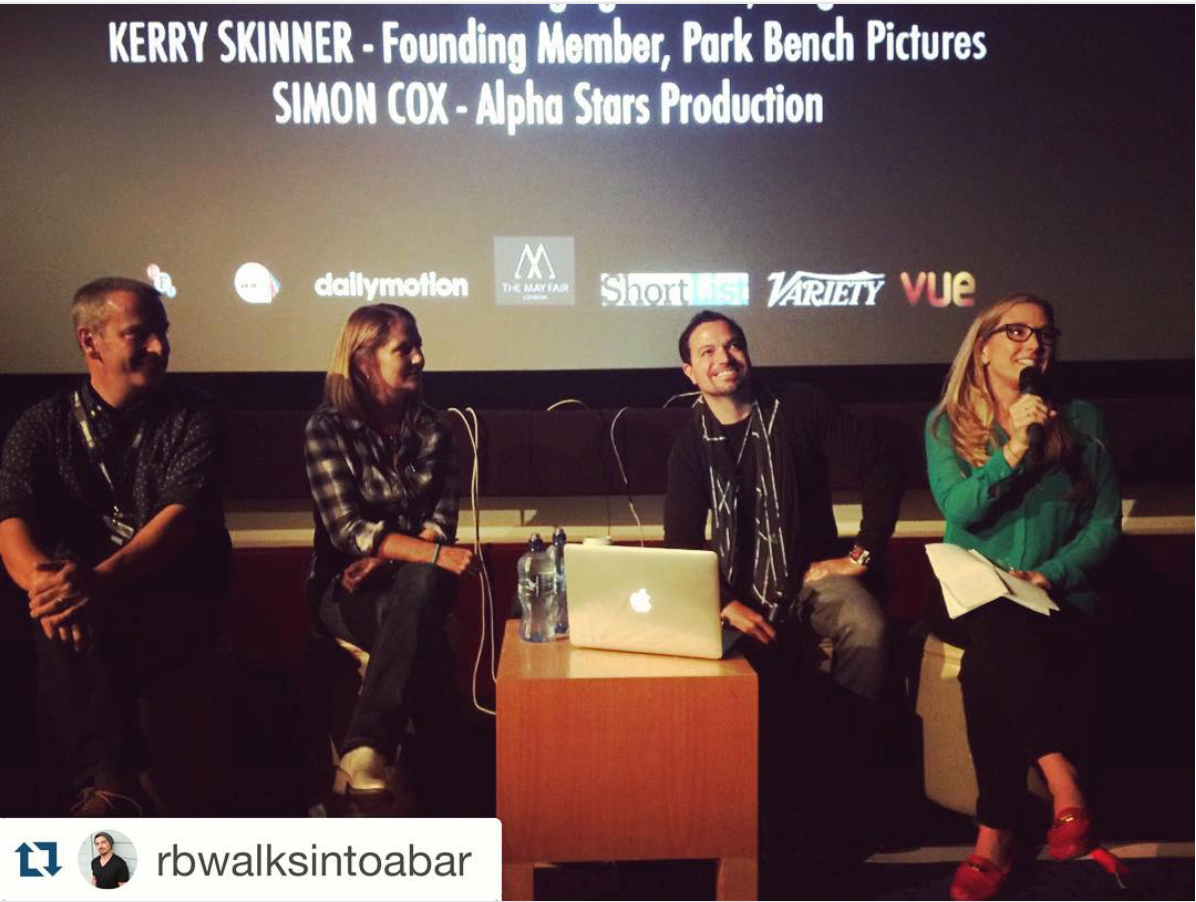 Kerry Skinner on the Crowdsourcing Panel with Stage 32 at the 2015 Raindance Film Festival